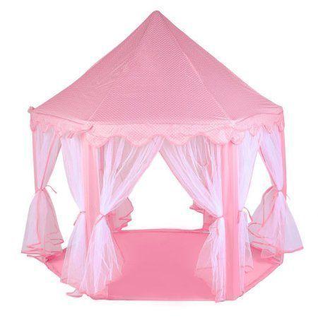 Hexagonal Princess Castle Tent Kid Funny Play Outdoor