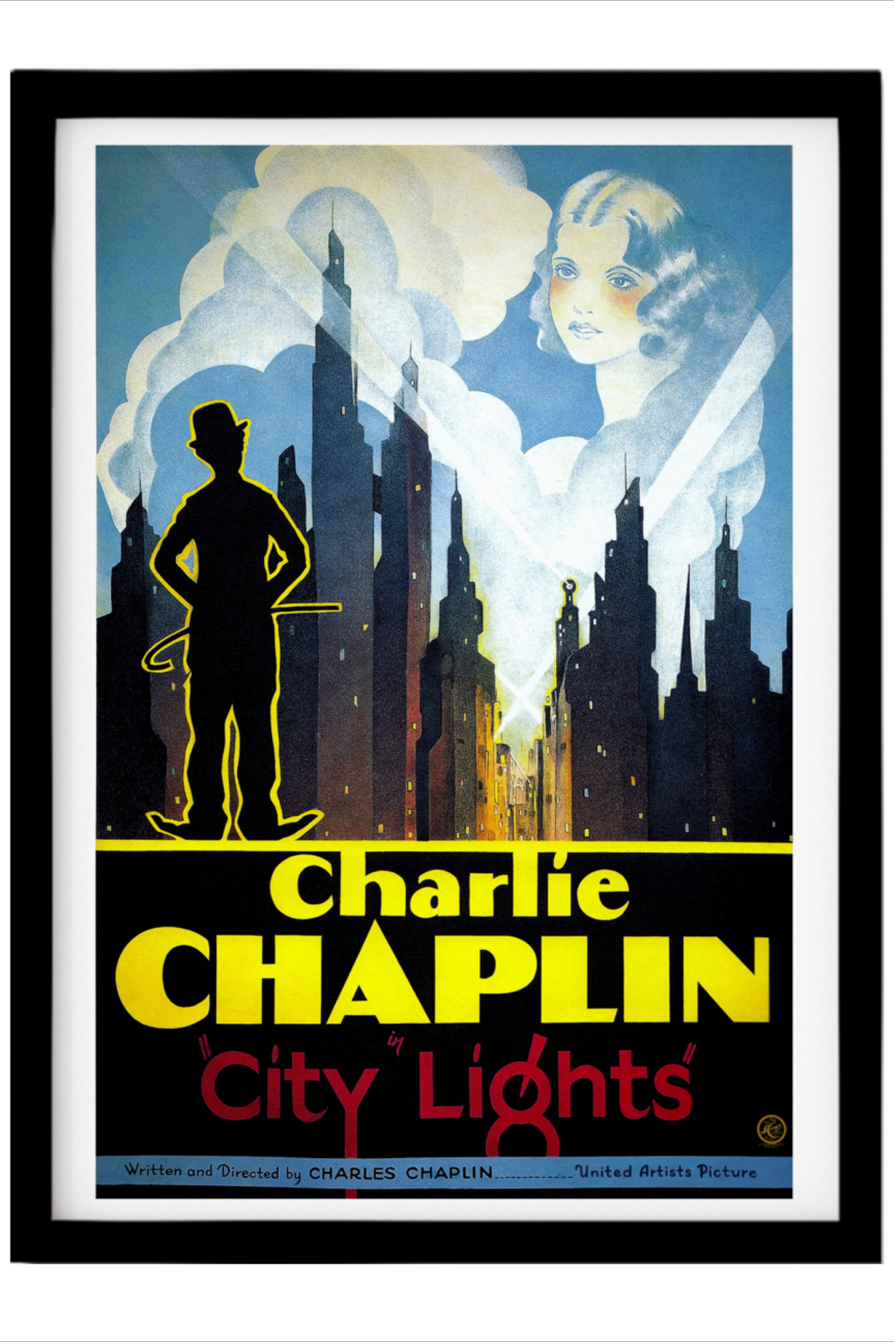 city lights movie poster vintage