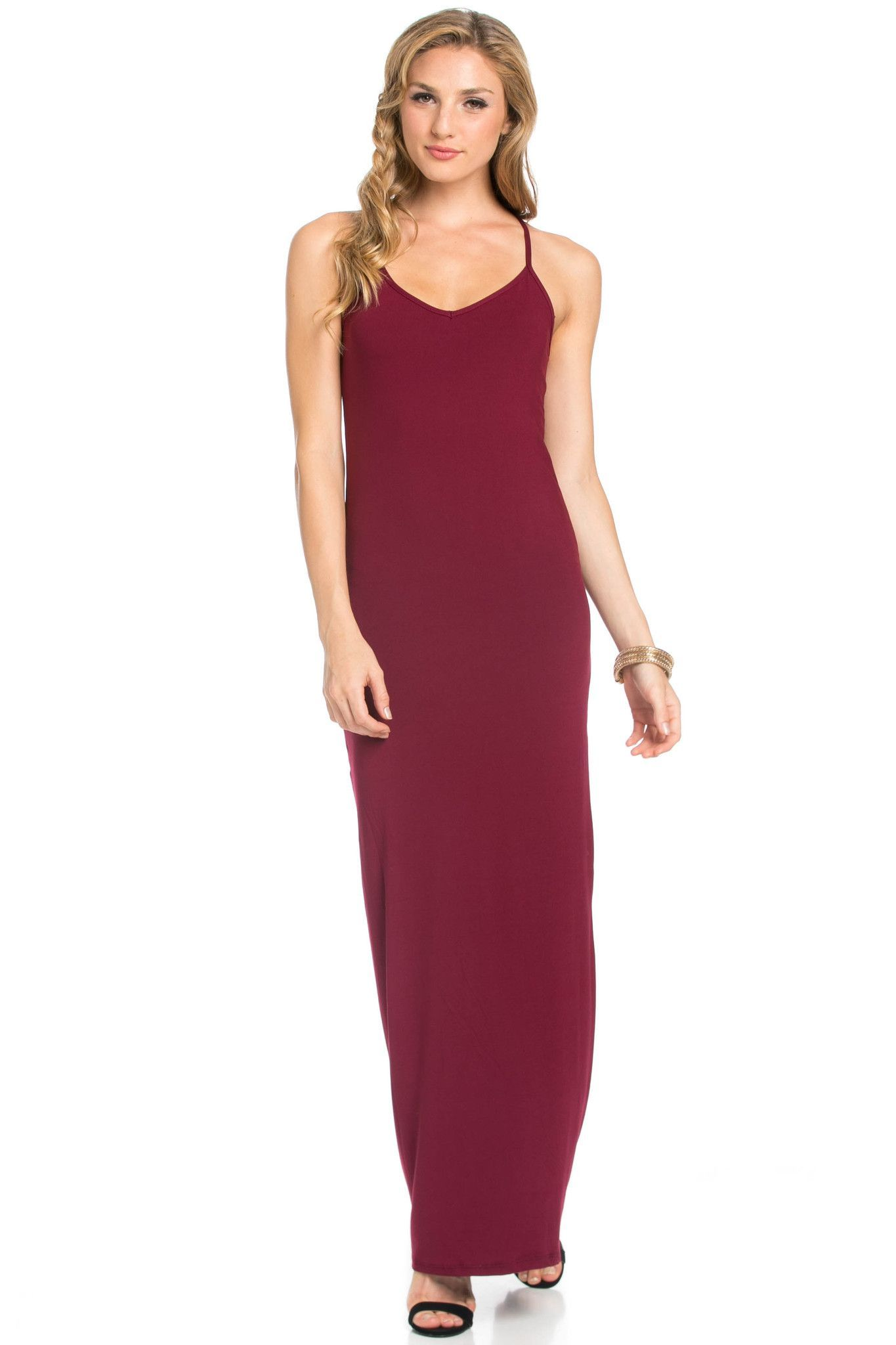 6219f5666601 Look totally standout this season in this burgundy maxi dress. In figure  flattering micro suede fabric