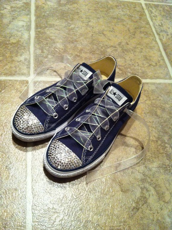Bling Chuck Taylor Converse; Those laces are really cool - its like ribbon!