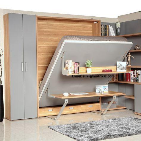 hidden fold bed design | Source Newest Design China hidden wall bed Supplier ...