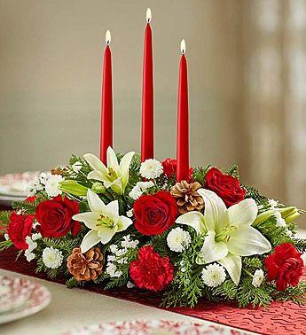 Traditional Christmas Centerpiece Christmas Floral Arrangements Christmas Flowers Christmas Flower Arrangements