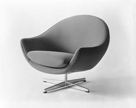 Armchair on white background