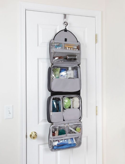 Best Hanging Toiletry Bag For Women. Really Large Hanging Travel ...