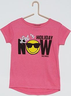 tee-shirt manches courtes imprimé 'Smiley'