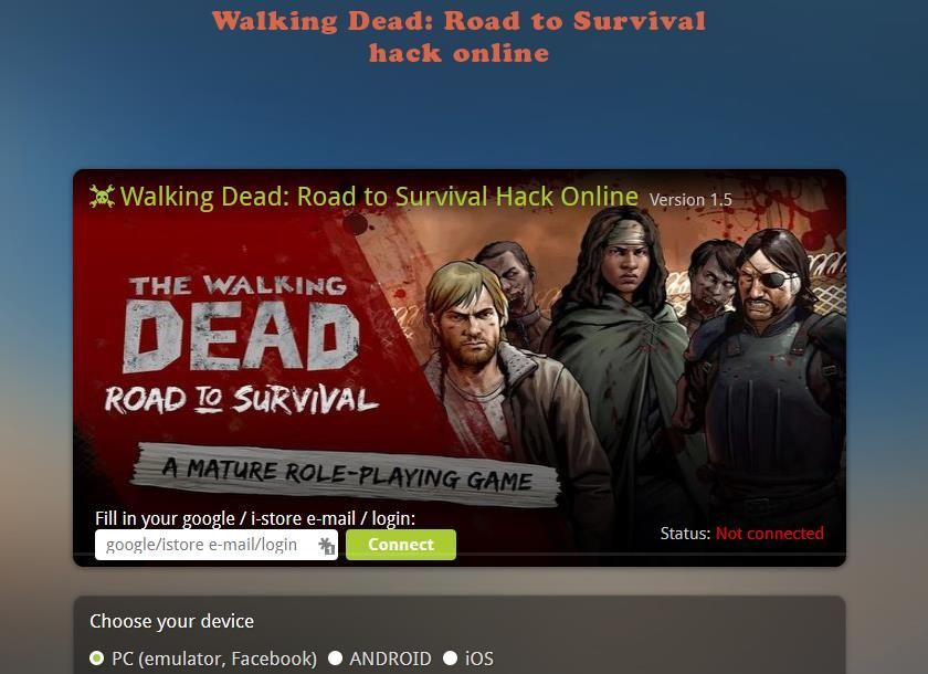 The Walking Dead Road To Survival Hack Activation Code The