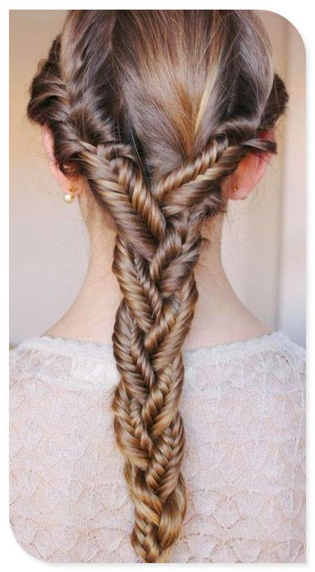 Seperate 3 sections of hair fishtail braid each one then braid seperate 3 sections of hair fishtail braid each one then braid the 3 fishtail ccuart Choice Image