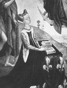 Joan of Valois (1435 - 1482). Daughter of Charles VII and Marie of Anjou. She married John II, Duke of Bourbon, but had no children.