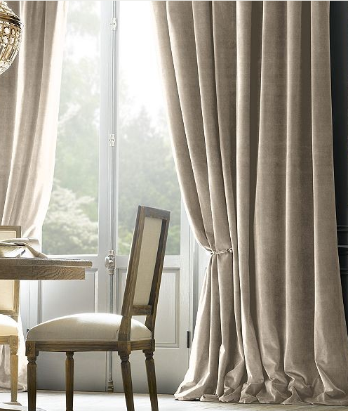 Taupe Velvet Curtains Traditional Curtains Curtains Living Room Velvet Curtains