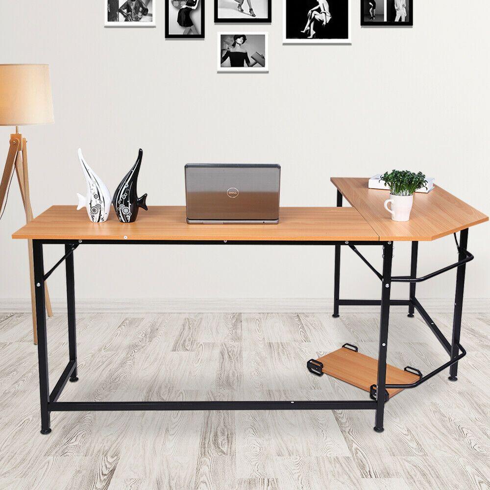 Office Corner Computer Desk L-Shaped Workstation Home ...