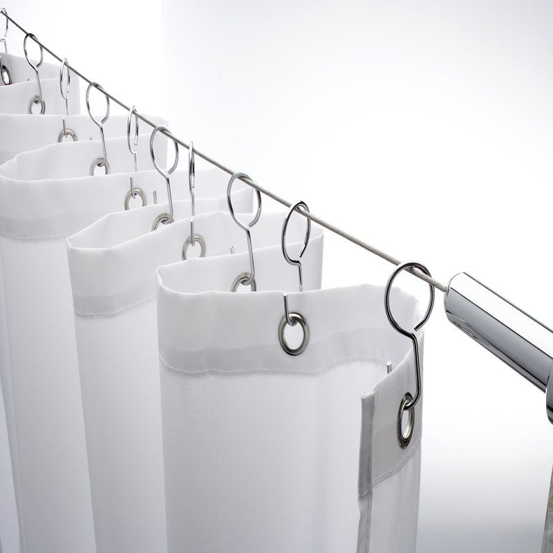 Wireline 118 Adjustable Straight Tension Shower Curtain Rod