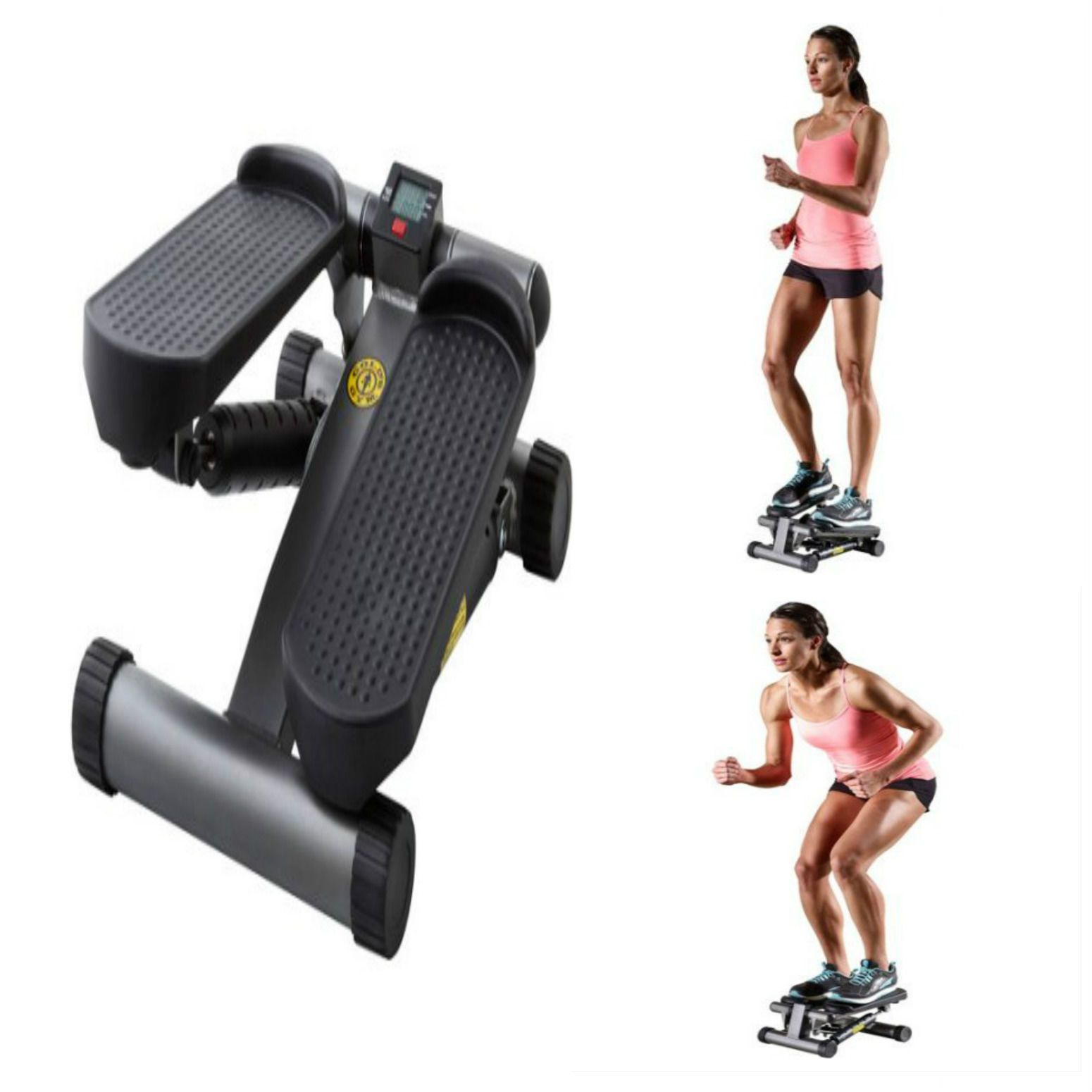 Gold S Gym Home Mini Stepper Workout Exercise Body Fitness Toner Display Monitor Stepper Workout Fitness Body Exercise