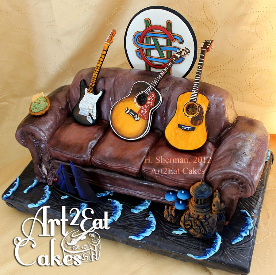 Crosby Stills & Nash, Old Red Couch - Cake by Heather -Art2Eat Cakes- Sherman #coupon code nicesup123 gets 25% off at  Provestra.com Skinception.com