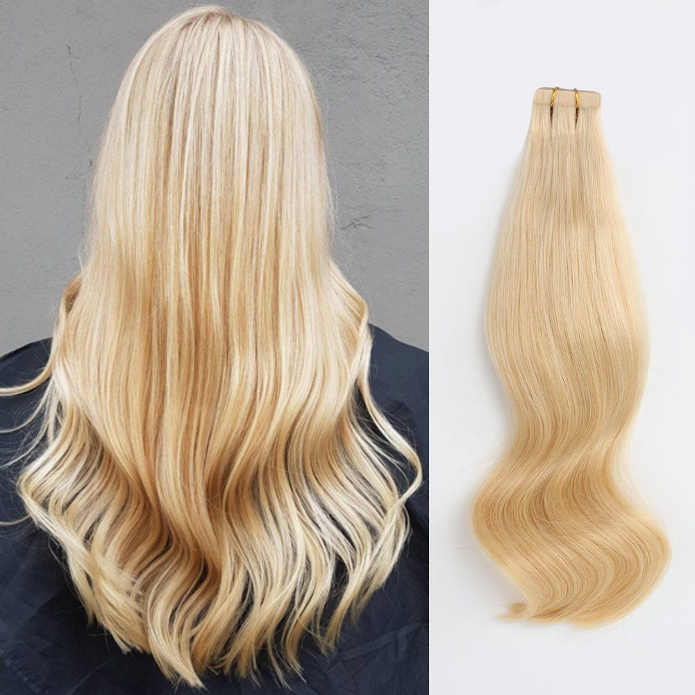 Amazingbeauty Pre Taped 50g20pcs Remy Tape In Hair Extensions Human
