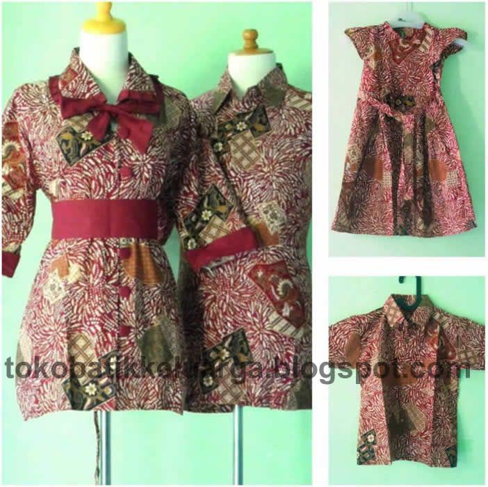 blus batik sarimbit keluarga modern coklat SK28 murah koleksi toko online http://tokobatikkeluarga.blogspot.com/