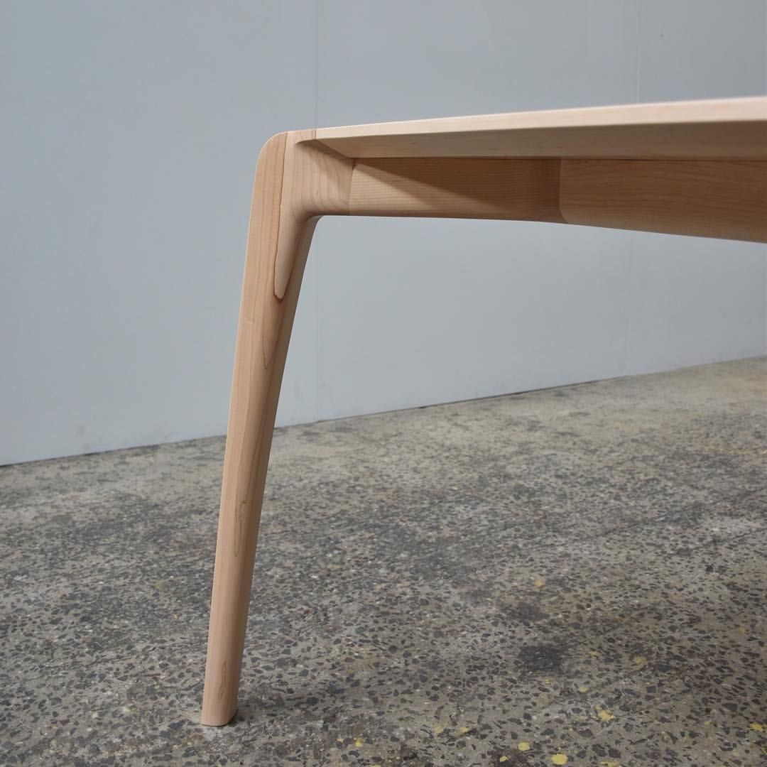 Made To Order A 3 5m X 1 1m Wandel Dining Table In Rock Maple
