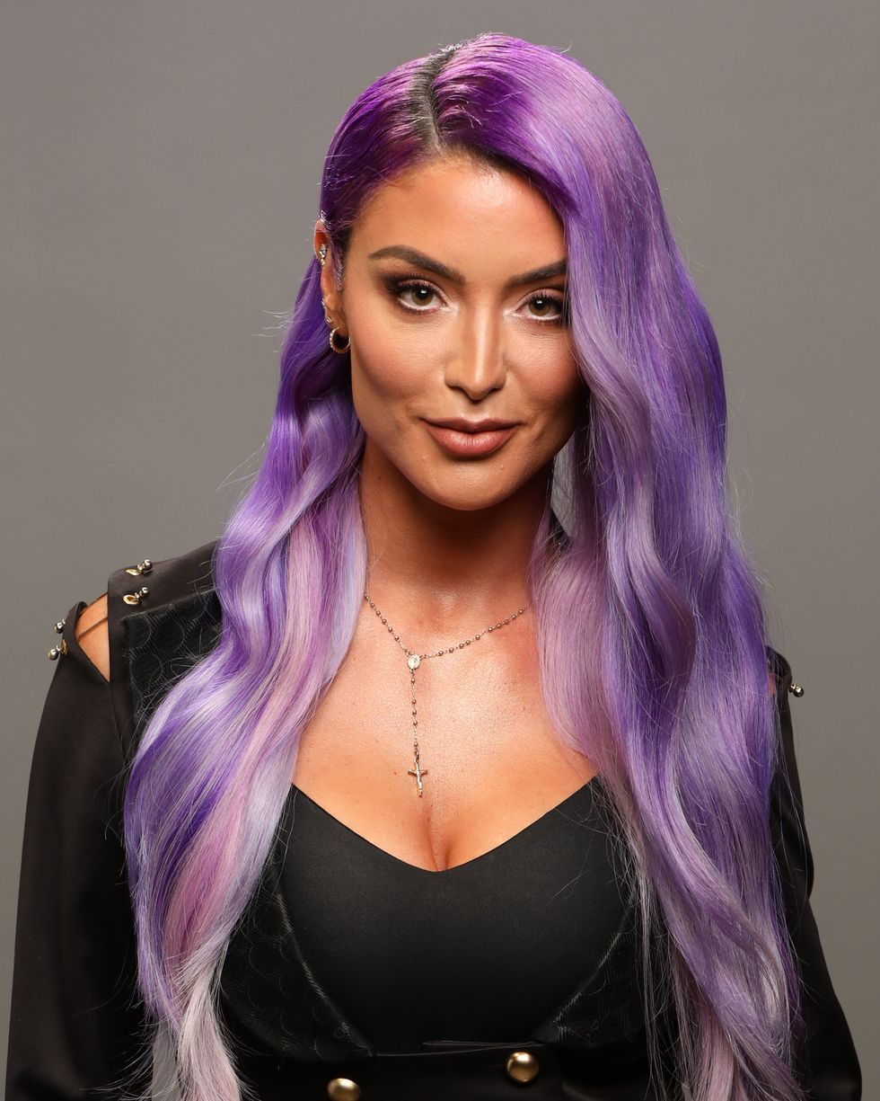 You Should Totally Dye Your Hair Lavender Natalie Eva Marie Purple Hair Eva Marie