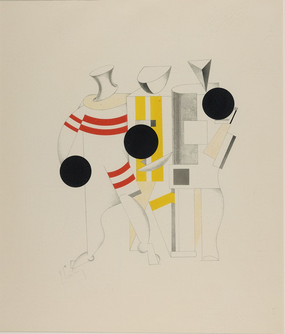 El Lissitzky: Costume design for the Sportsmen from the portfolio ...