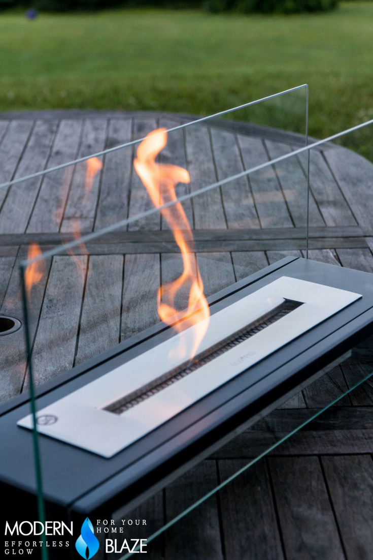 Eco Feu Rio Table Top Ethanol Fireplace With Adjustable Flame