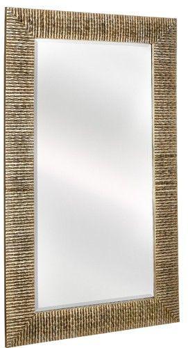Majestic Mirrors Rectangular Wide-Mitered Mirror | Silver ...