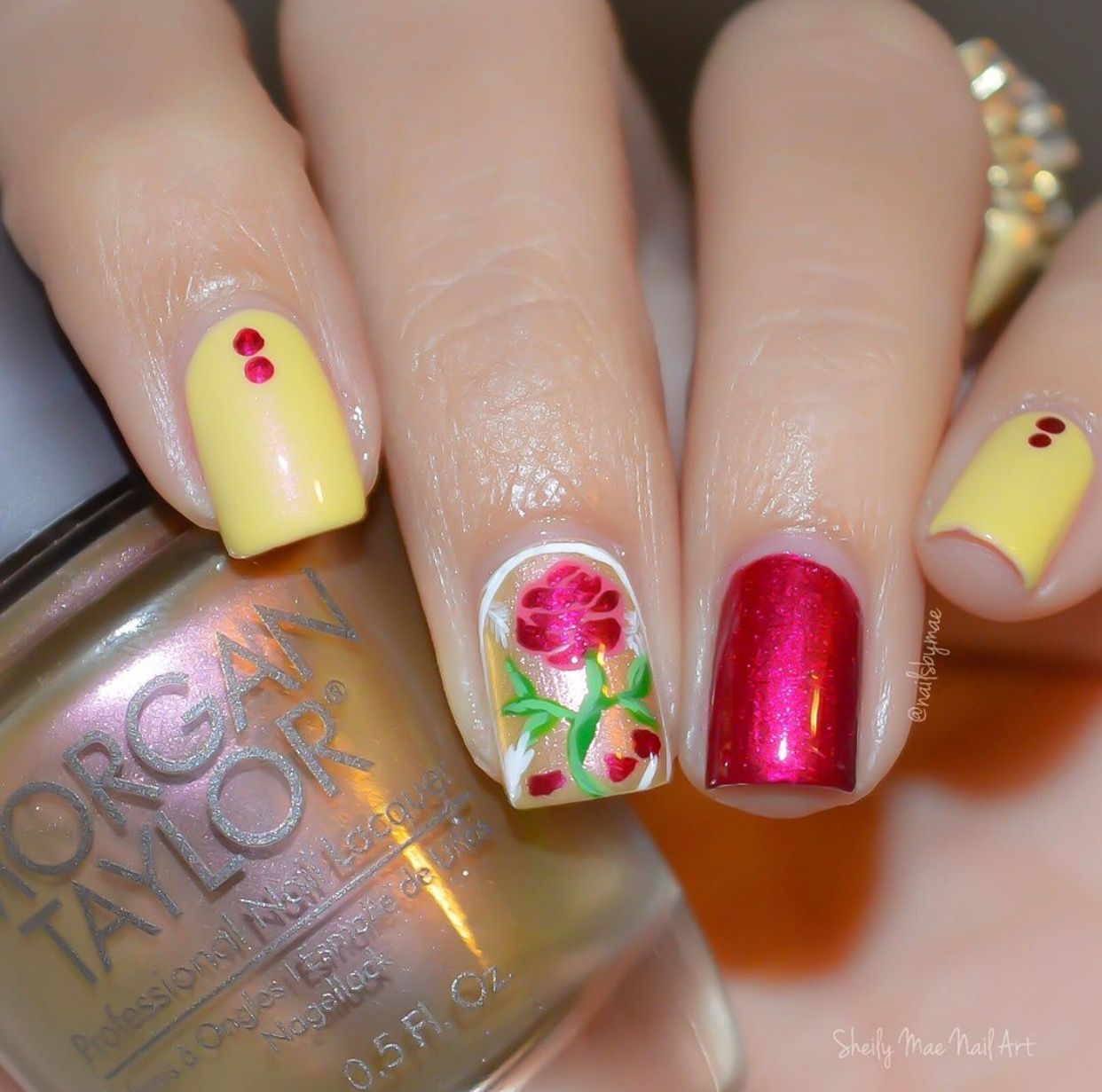 Beauty and the beast nails | Disney nails | Pinterest | Nagellack