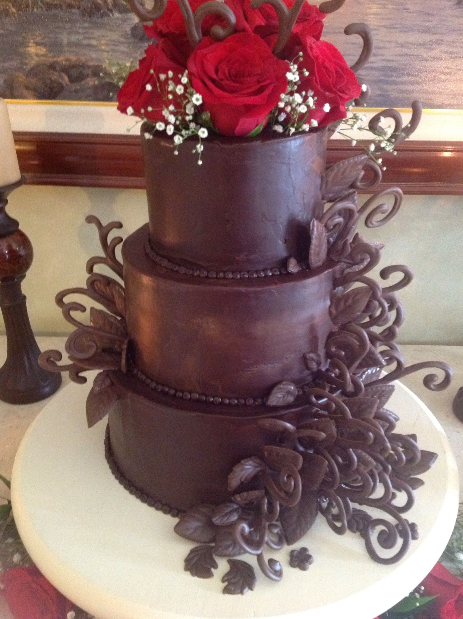 Chocolate ganache WOW Wedding cake creations