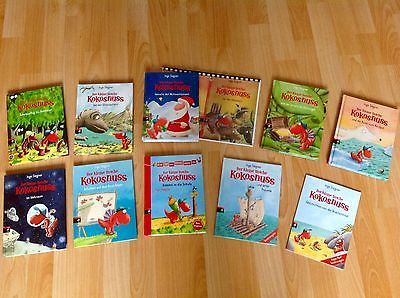 Der kleine Drache Kokosnuss, 10 Bücher im Paket NEUWERTIG!
