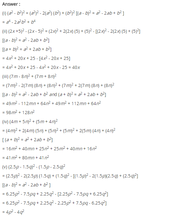 Ncert Solutions For Class 8 Maths Algebraic Expressions And