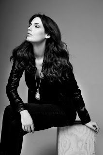 From the archives. Portrait of Kate Amundsen in black and white. Hair and Make up by Alexandra Schafer.