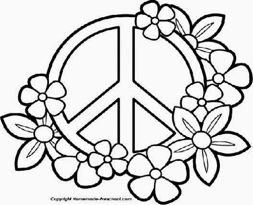 Peace Sign Coloring Pages | Draw Coloring Pages | Mandalas | Pinterest