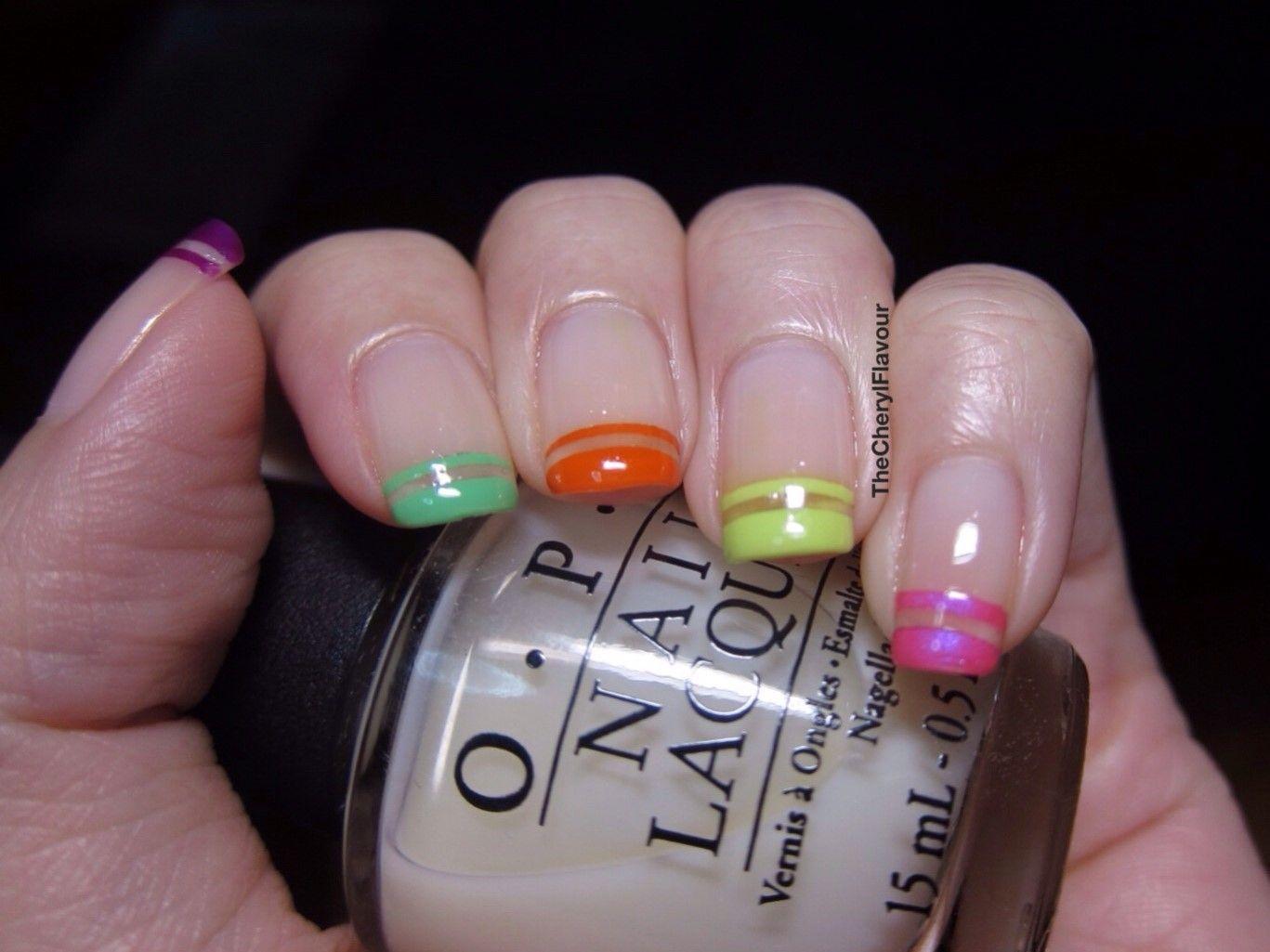 Neon Tips Nail Art | Nailed It! | Pinterest | Neon, Nail nail and ...