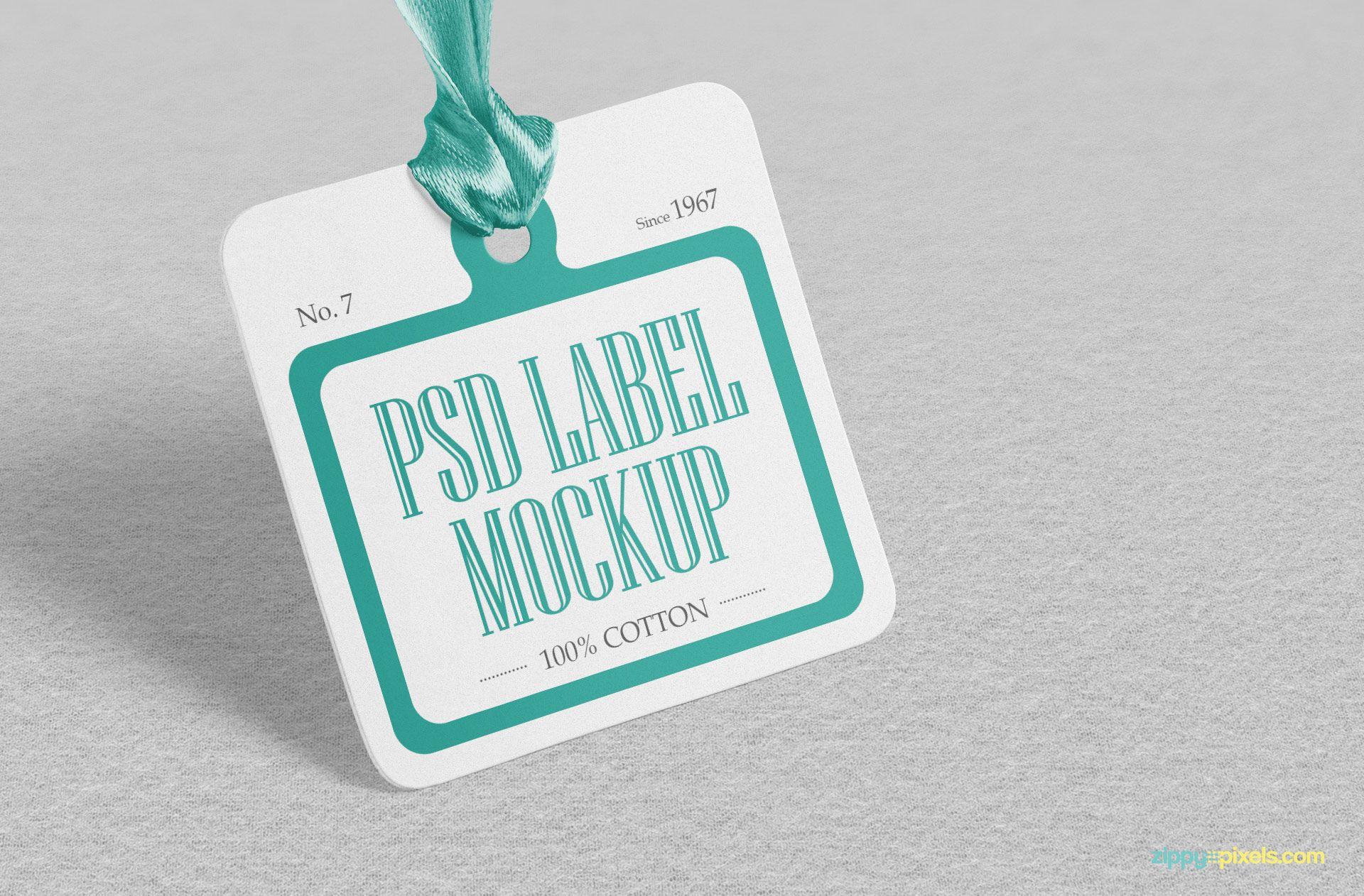 Download Free Cloth Tag Mockup Psd Zippypixels Mockup Template Free Mockup Templates Tag Design
