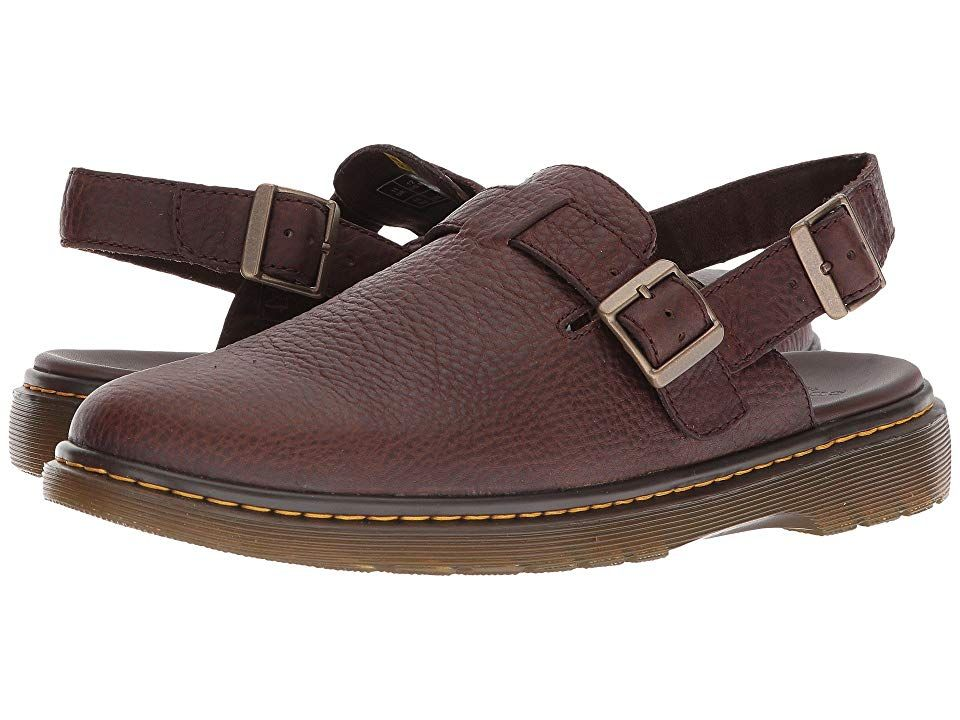 f76c7b07359 Dr. Martens Jorge II (Dark Brown Grizzly) Men s Sling Back Shoes. The