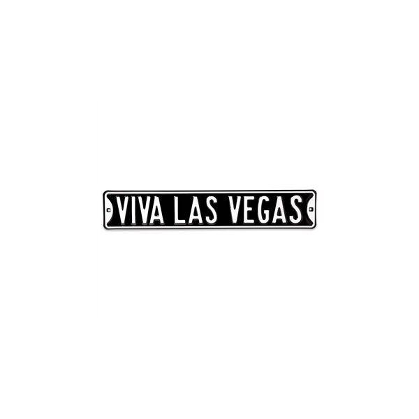 "Street Sign Home Decor Enchanting Viva Las Vegas 36"" Metal Street Sign At The Music Stand ❤ Liked Inspiration"