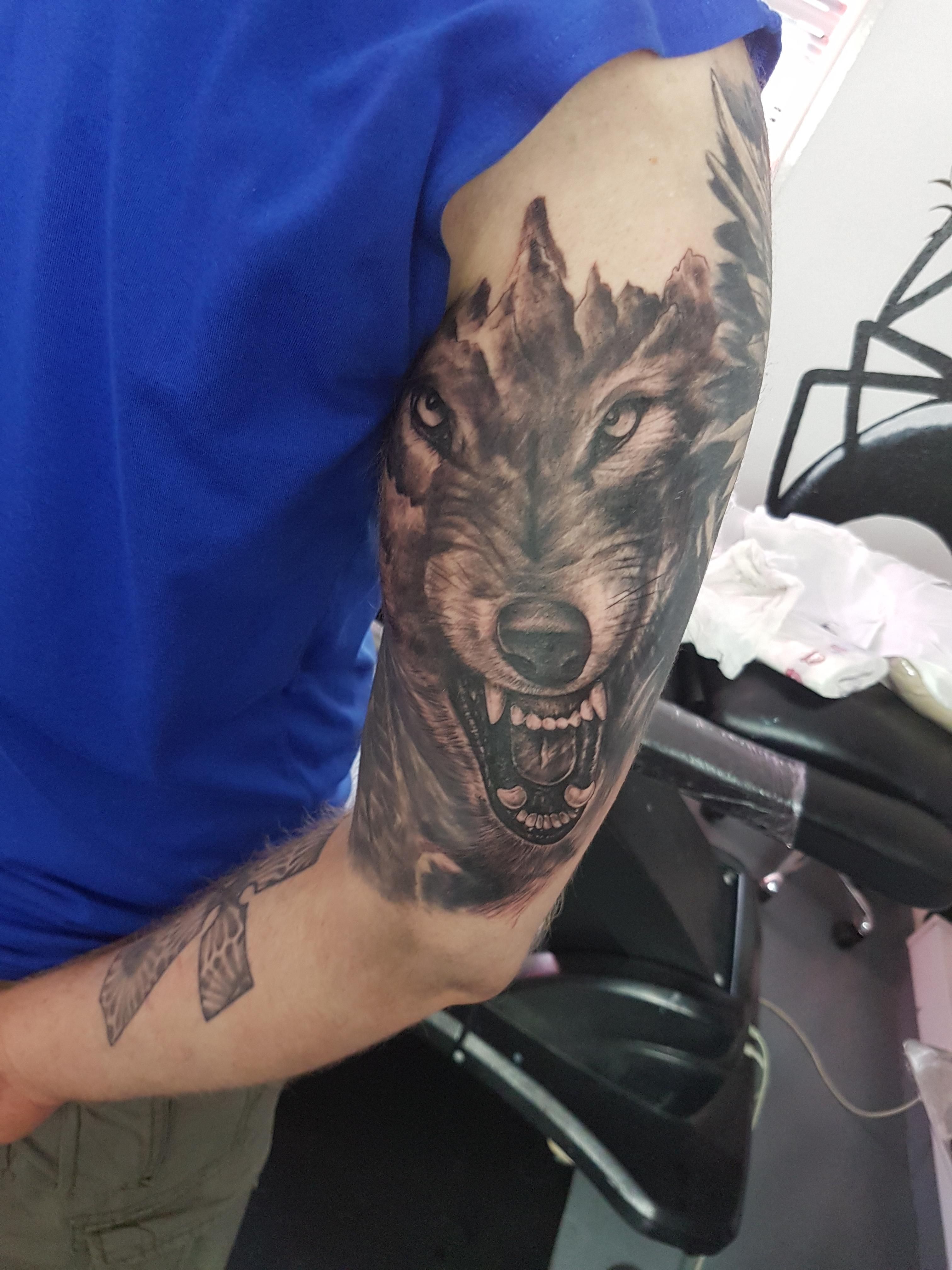 Newest tattoo by Gido from Captain Ahab's Tattoo Studio in Mildenhall UK