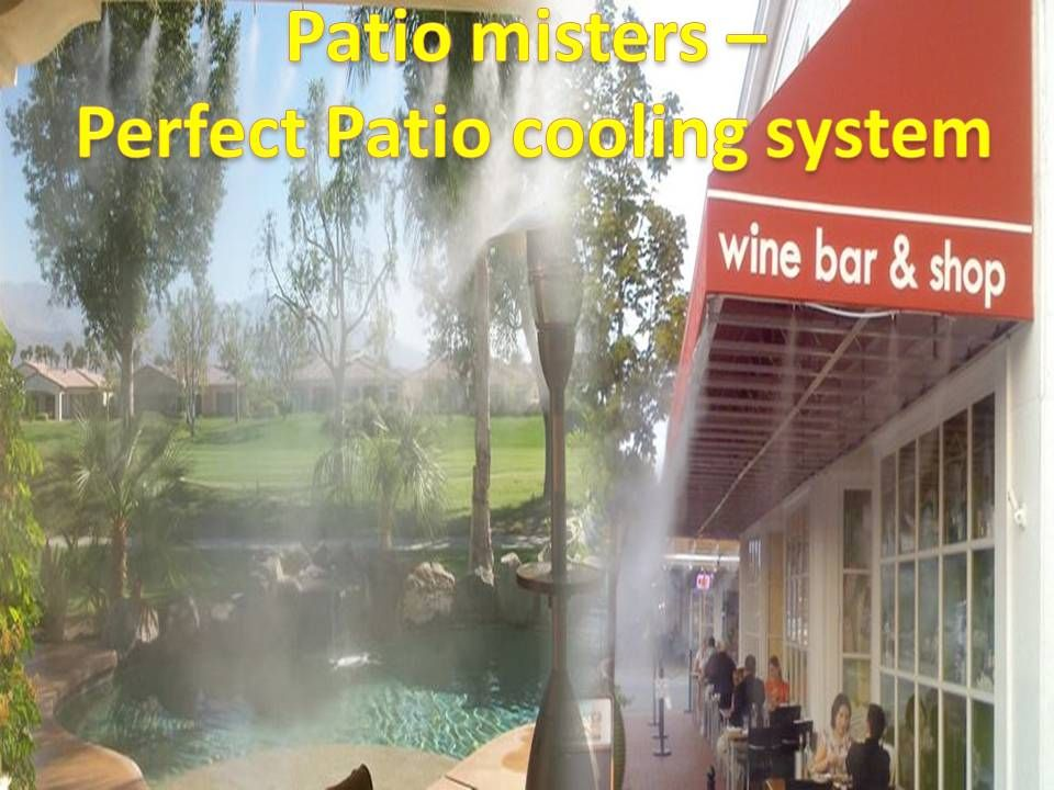 Patio Misters   Perfect Patio Cooling Systems