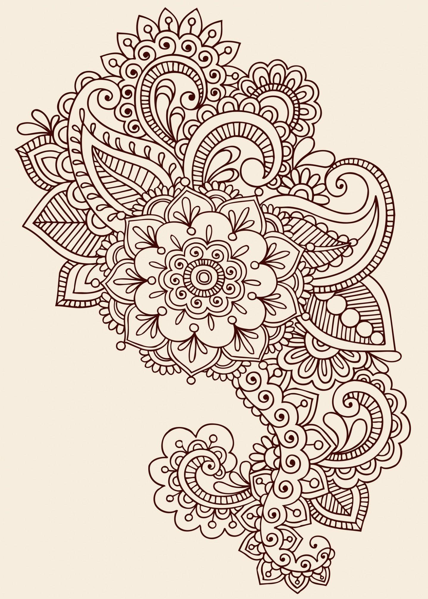 Mandala Henna Designs: Paisley Henna Tattoo Design Henna Flower Tattoo Designs