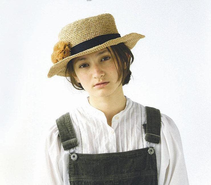crochet hat women crochet summer sun hat in wheaten with flower ...