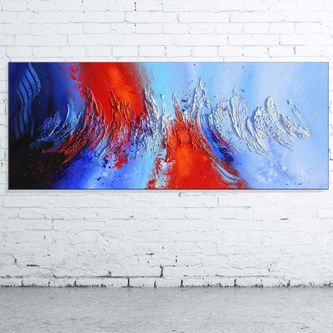 Peinture tsolma tableau abstrait contemporain toile for Tableau peinture contemporain