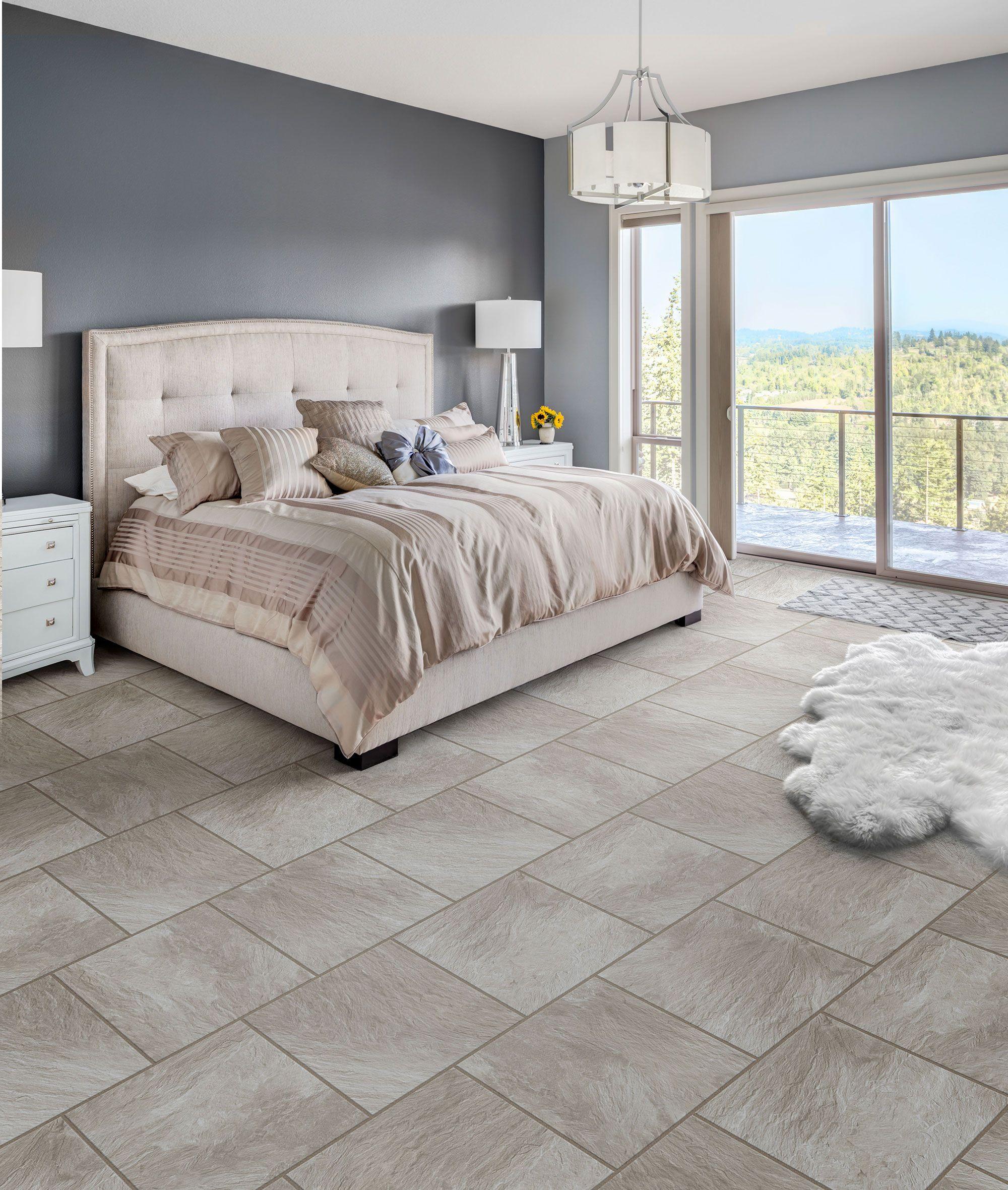 Clean Slate Fresh Start Bedroom interior, Luxury vinyl