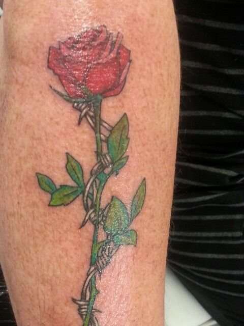 Barbed Wire Rose Tattoo: Sisters Tattoo, Tattoos And Piercings