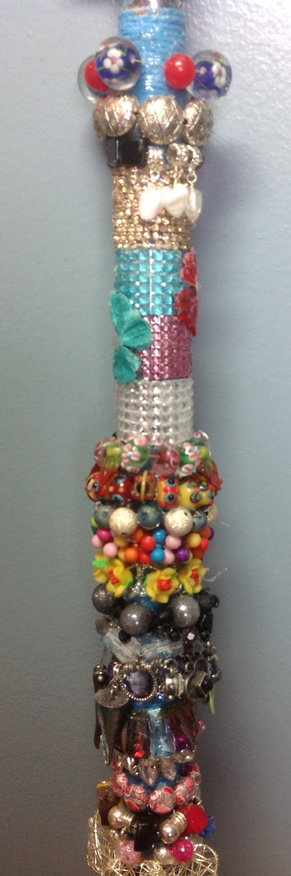 Walking Cane Decorations Decorative Beaded Cane And Walking Stickannielaine On Etsy