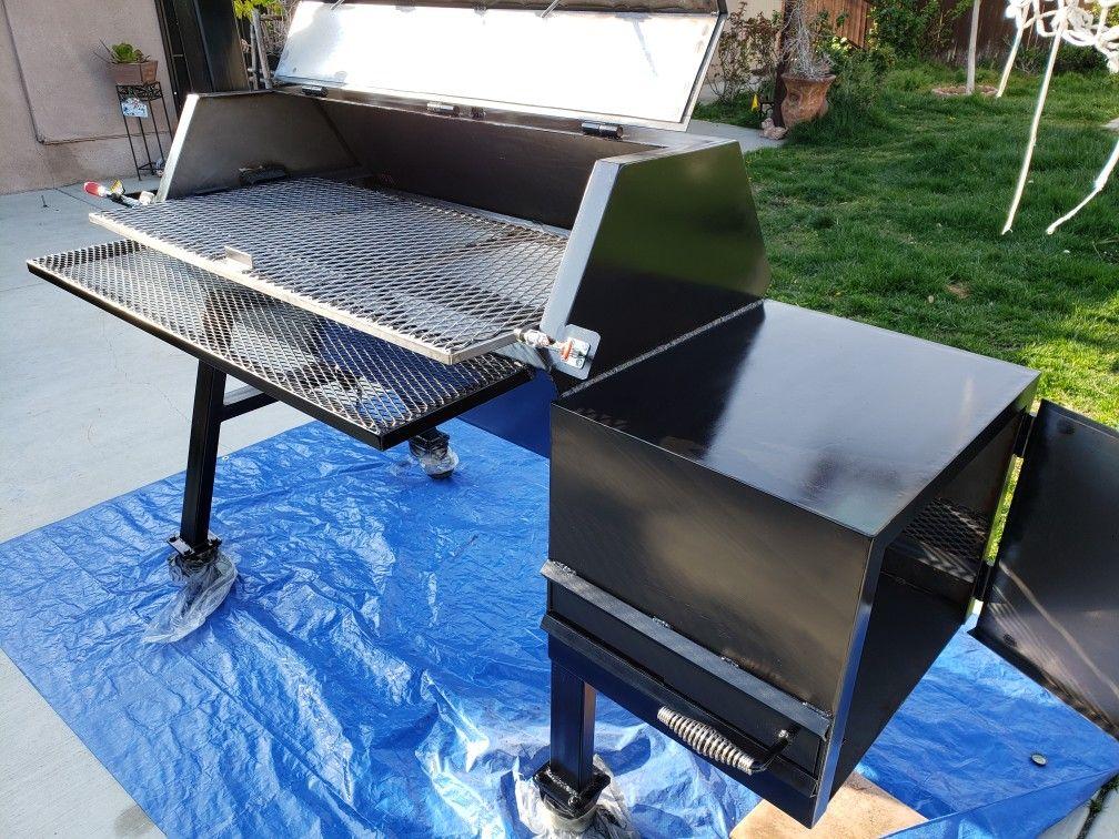 Badhombrebarbecue Offset Smoker Outdoor Decor Decor