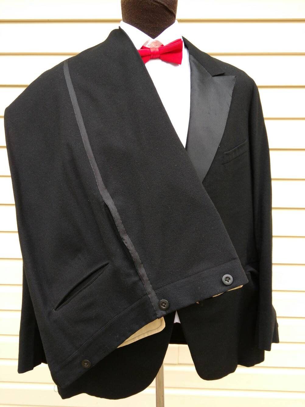 Vintage Mens Suit 1930 Tuxedo Suit Geo Hoelscher Berlin Jacket Pants By Alltheragevintageca On Etsy Tuxedo Suit Mens Tuxedo Suits Vintage Suit Men