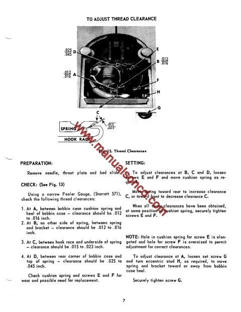 Singer 500 503 sewing machine service manual pinterest diagram wiring diagram setting feed dog height setting needle bar height checking needle position ccuart Image collections