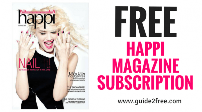 Free beauty samples in magazines