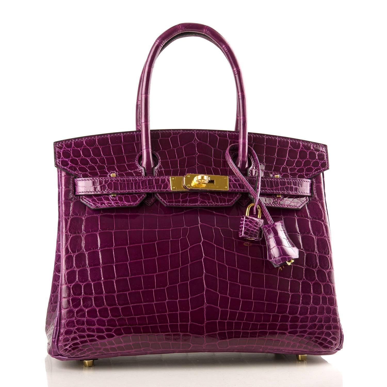 Hermes Birkin bag 25 Blue brighton Niloticus crocodile skin Gold hardware   Designerhandbags  39889765e4e1b