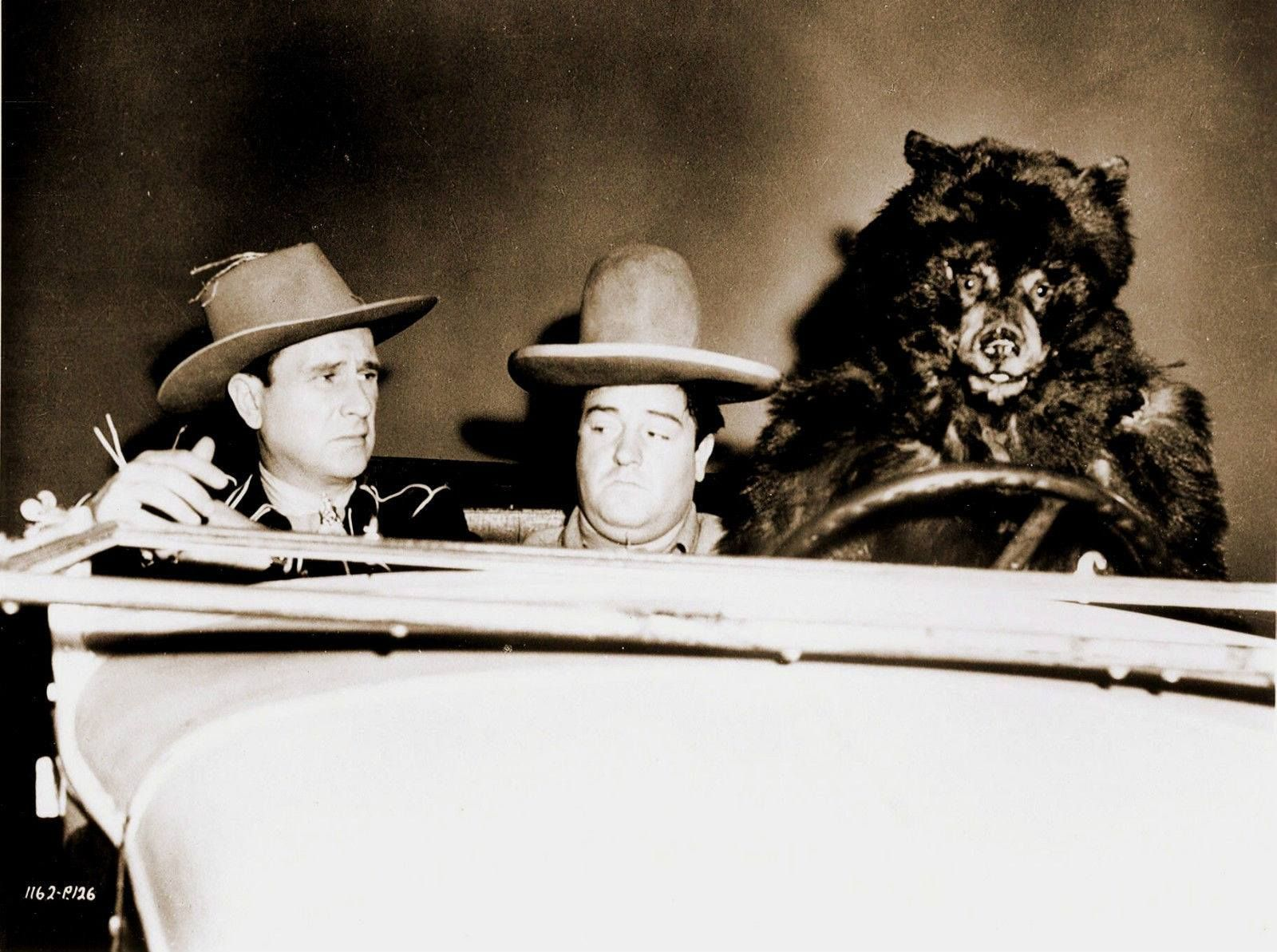A Behind The Scenes Shot Of Comic Legends Bud Abbott And Lou