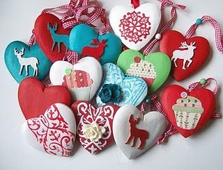 christmas ornaments DIY hearts