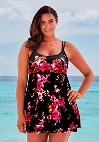 2f43f5cf799fc Fashion Bug Womens Plus Size Beach Belle Lingerie Swim Dress  www.fashionbug.us  PlusSize  FashionBug  bathingsuit  swimsuit